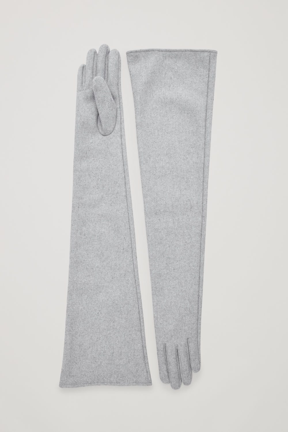 코스 COS LONG WOOL GLOVES,Grey