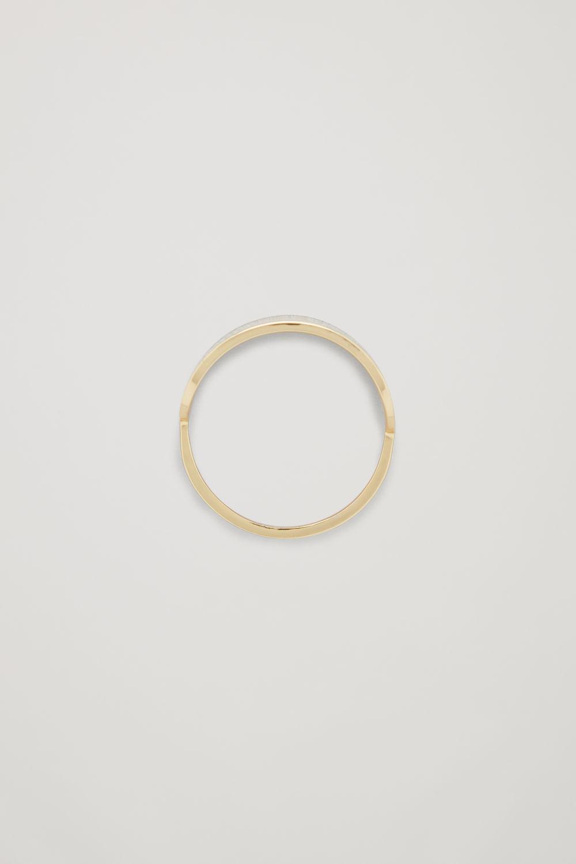 코스 COS OVAL-SHAPED RING,Gold