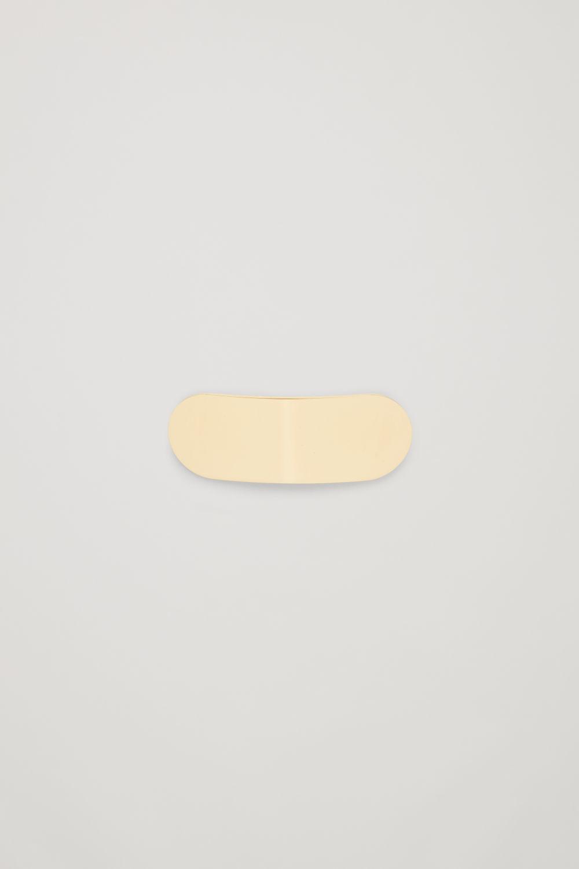 코스 COS OVAL-SHAPED HAIR CLIP,Gold