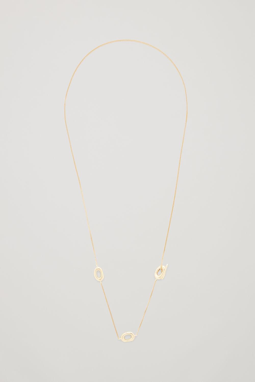 코스 COS GOLD-PLATED LARIAT NECKLACE,Gold