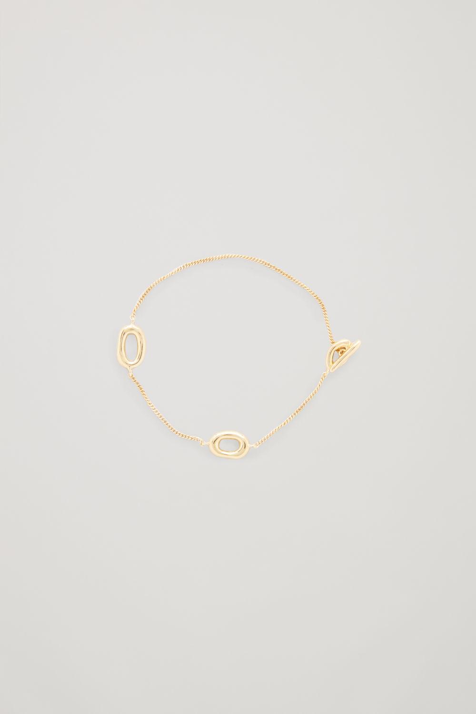 코스 COS GOLD-PLATED CHAIN BRACELET,Gold