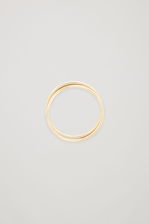 코스 COS GOLD-PLATED STACKING RINGS,Gold