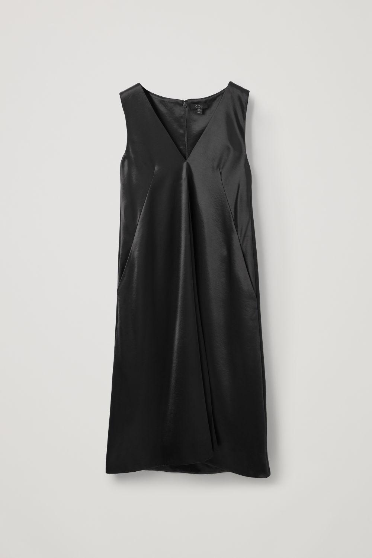 COS SMOOTH SLEEVELESS DRESS,Midnight grey