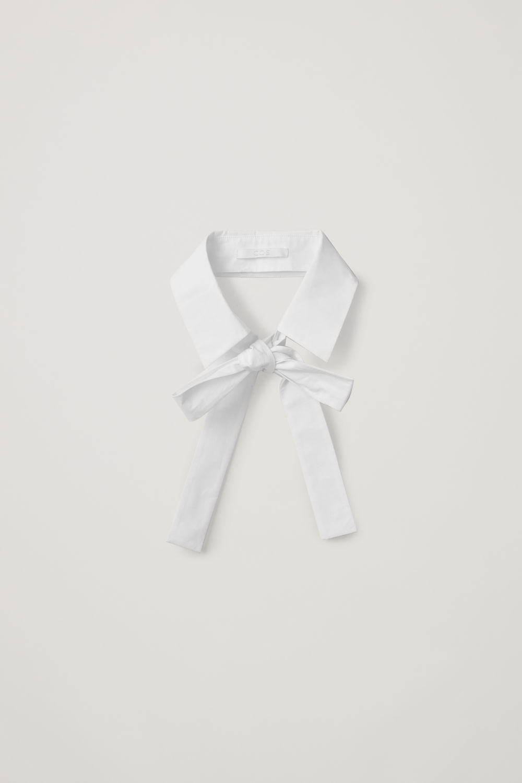 코스 COS COTTON-POPLIN COLLAR,White
