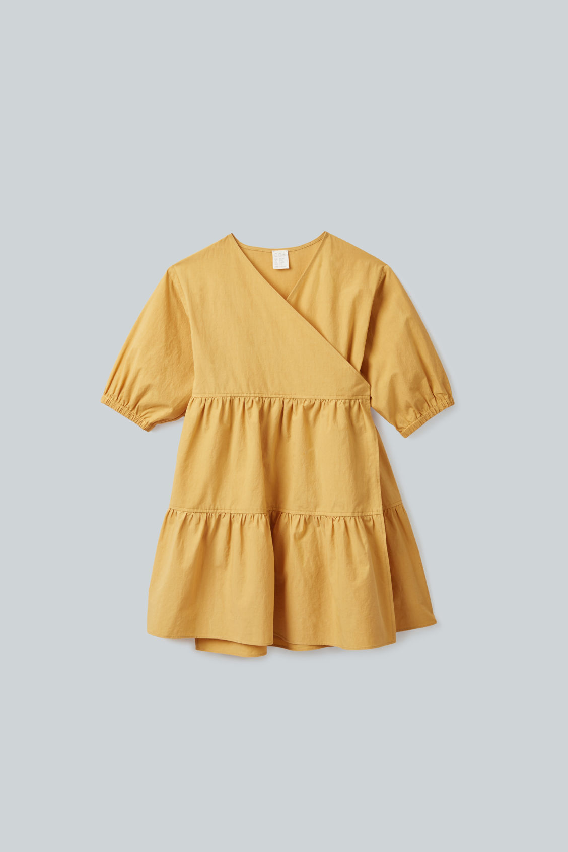 Cos Kids' Cotton Wrap Dress In Yellow