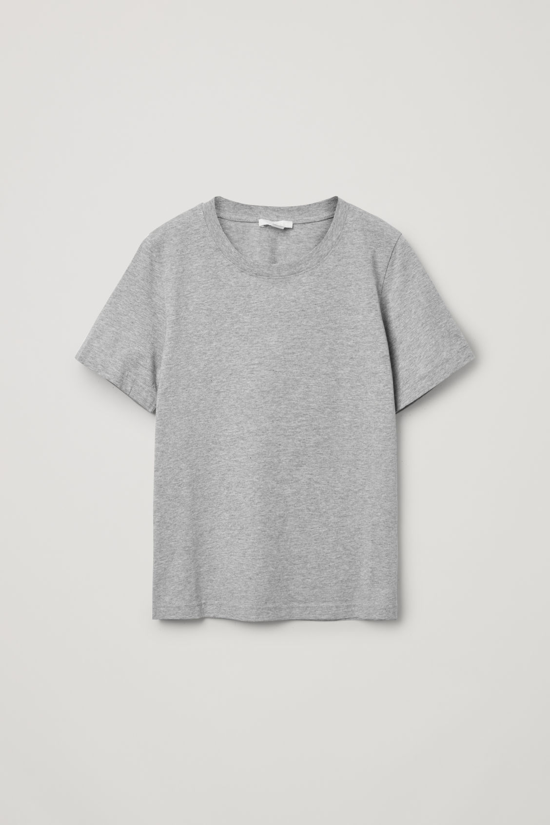 Cos Cotton Jersey T-shirt In Grey