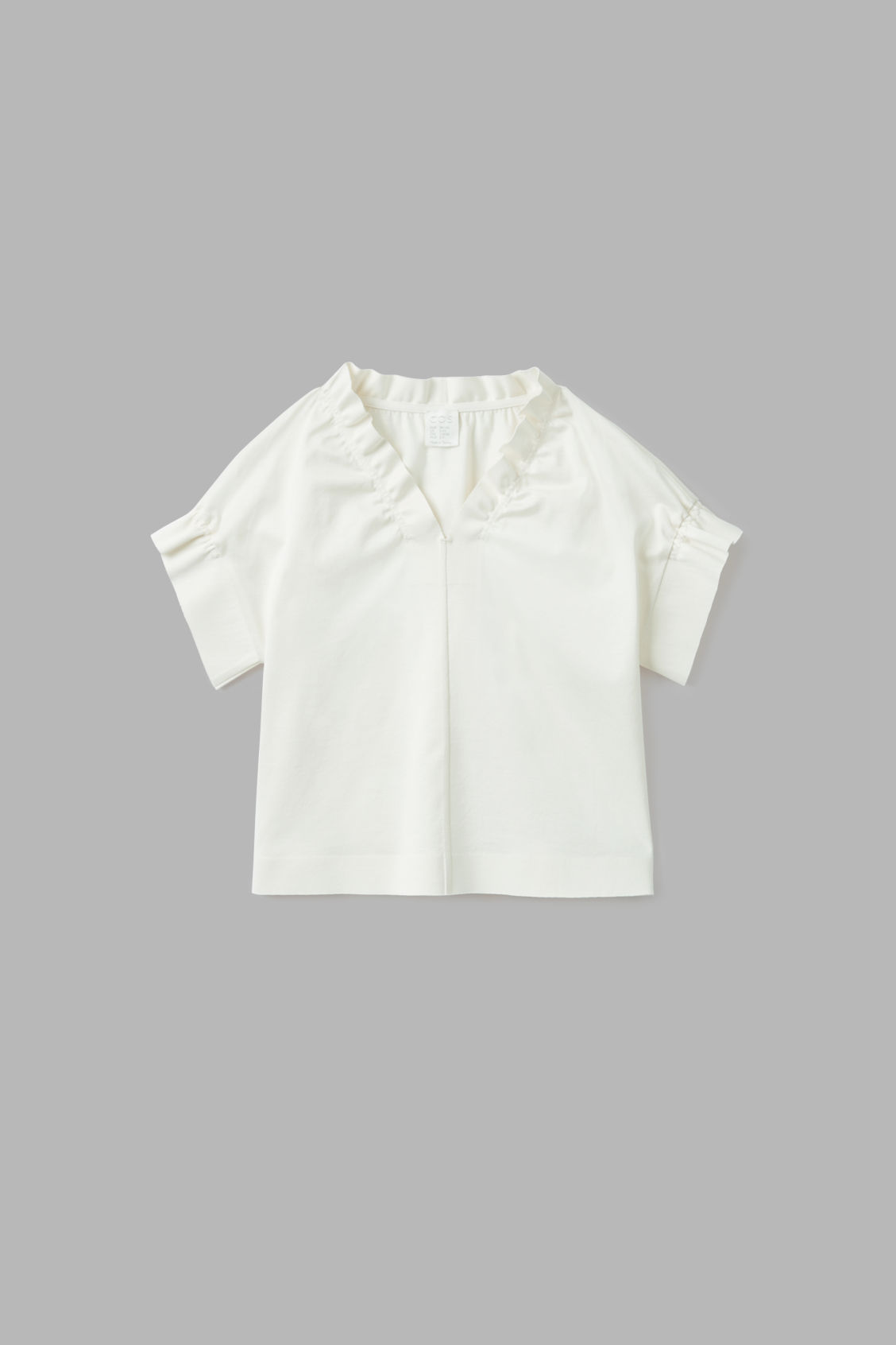Cos Kids' Ruched-trimmed Top In White