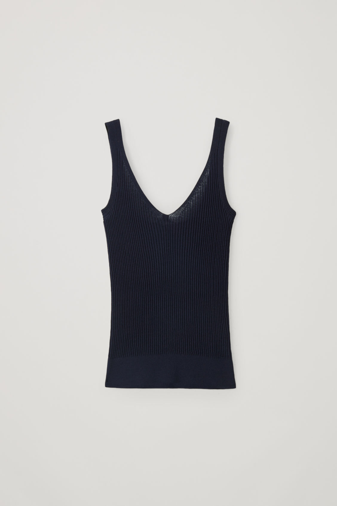 Cos Ribbed Vest Knit In Blue