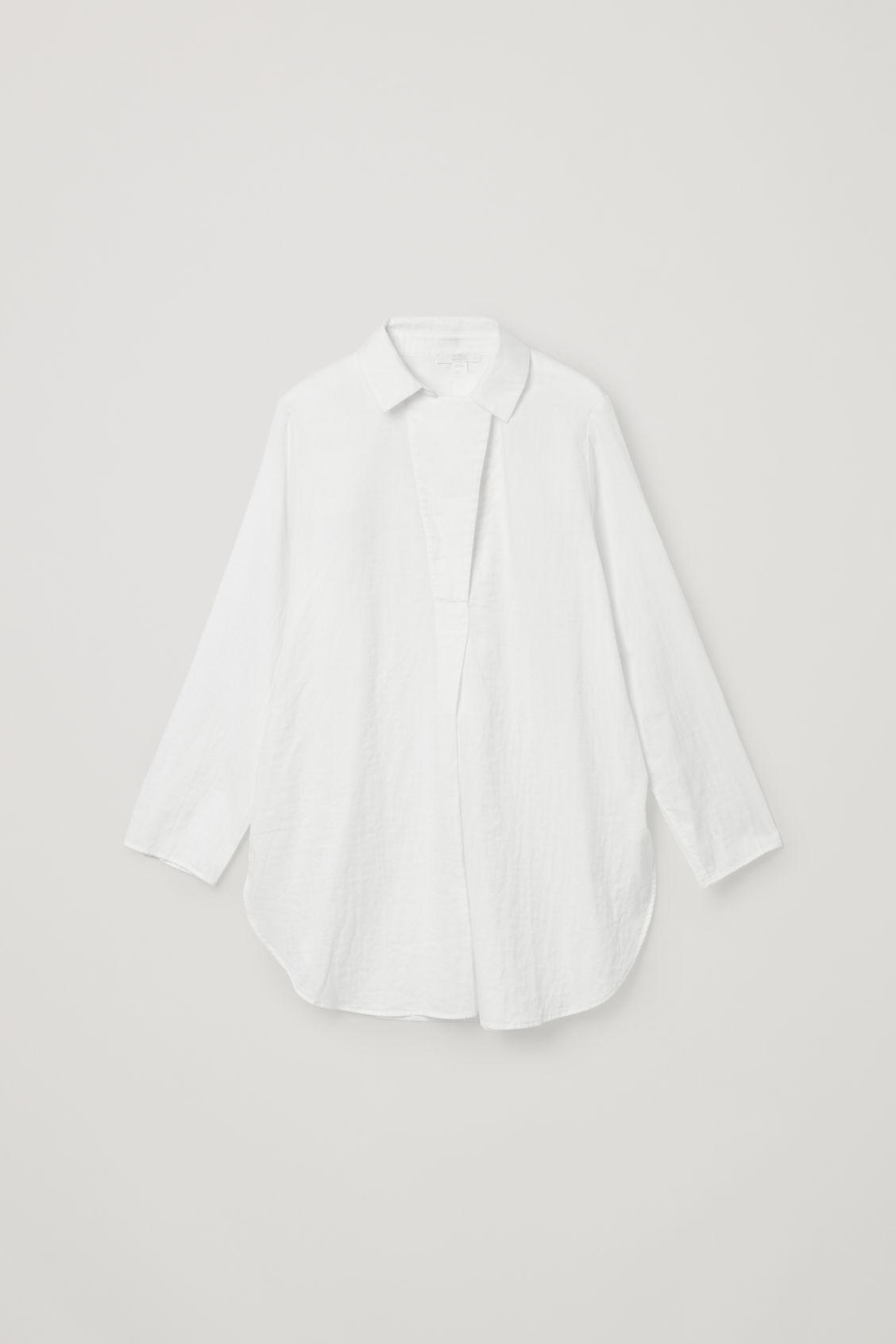 Cos Oversized Organic Cotton Lightweight Shirt In White