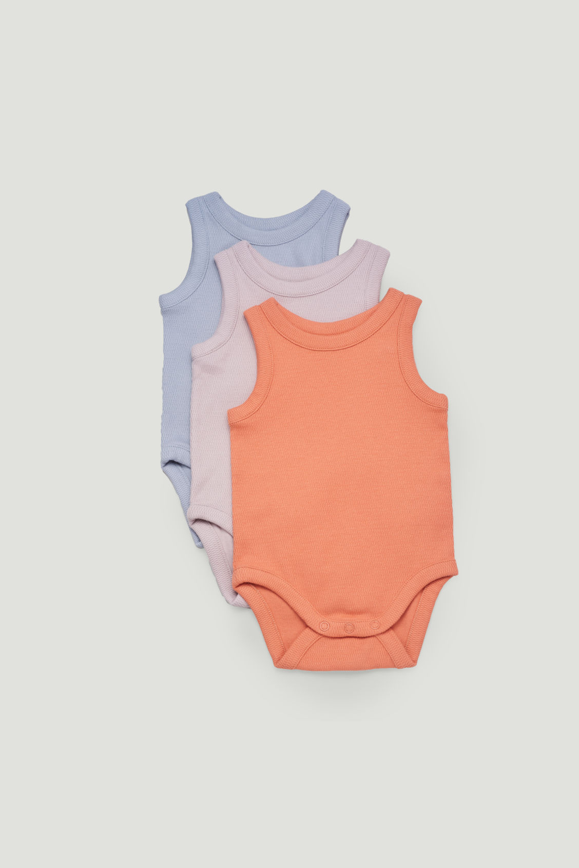 Cos Kids' 3-pack Organic Cotton Babygrows In Red