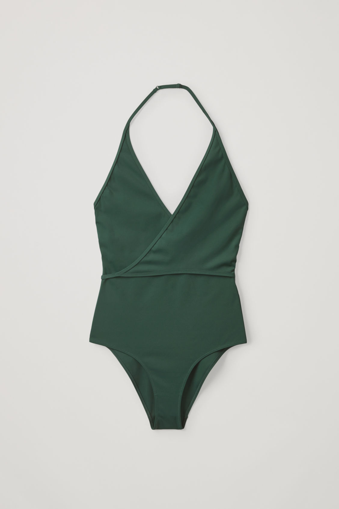 Cos Wrap-over Swimsuit In Green