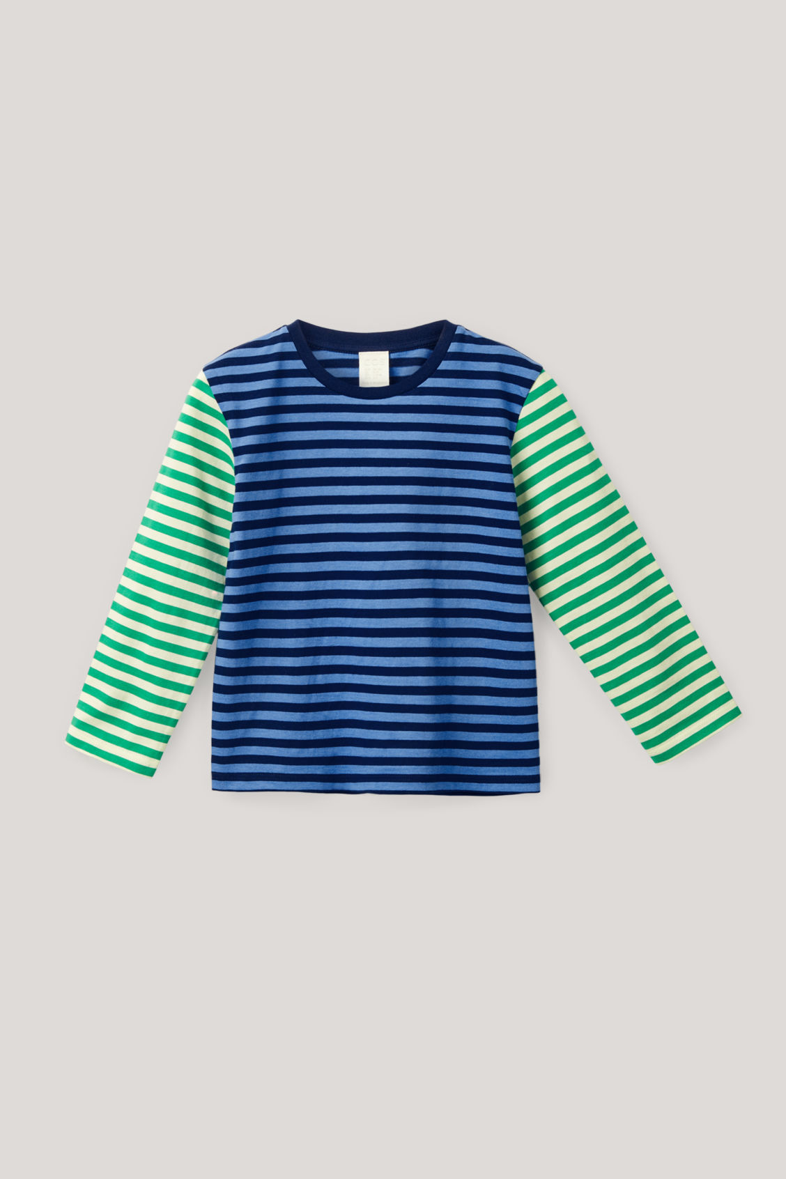 Cos Kids' Striped Organic Cotton Top In Blue