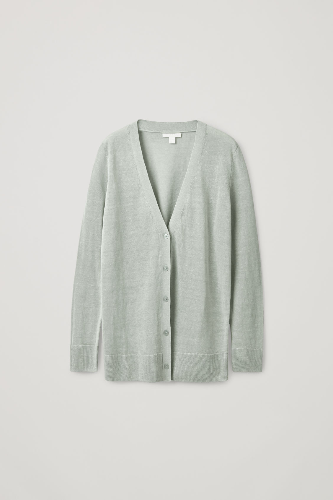 Cos Linen-mulberry Silk Cardigan In Turquoise