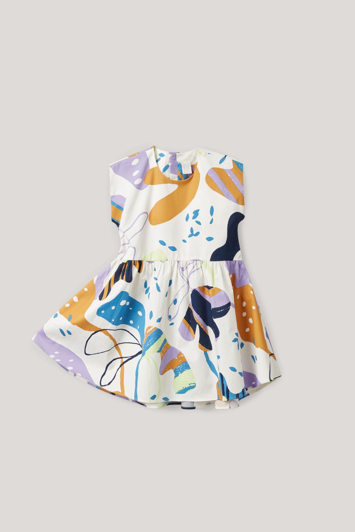 Cos Kids' Printed Sleeveless Dress In White