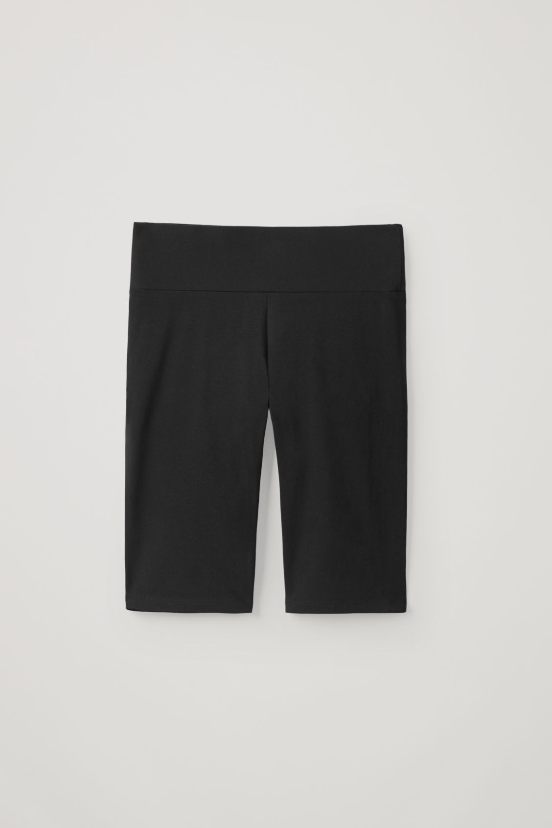 Cos Cotton Jersey Slim-fit Shorts In Black