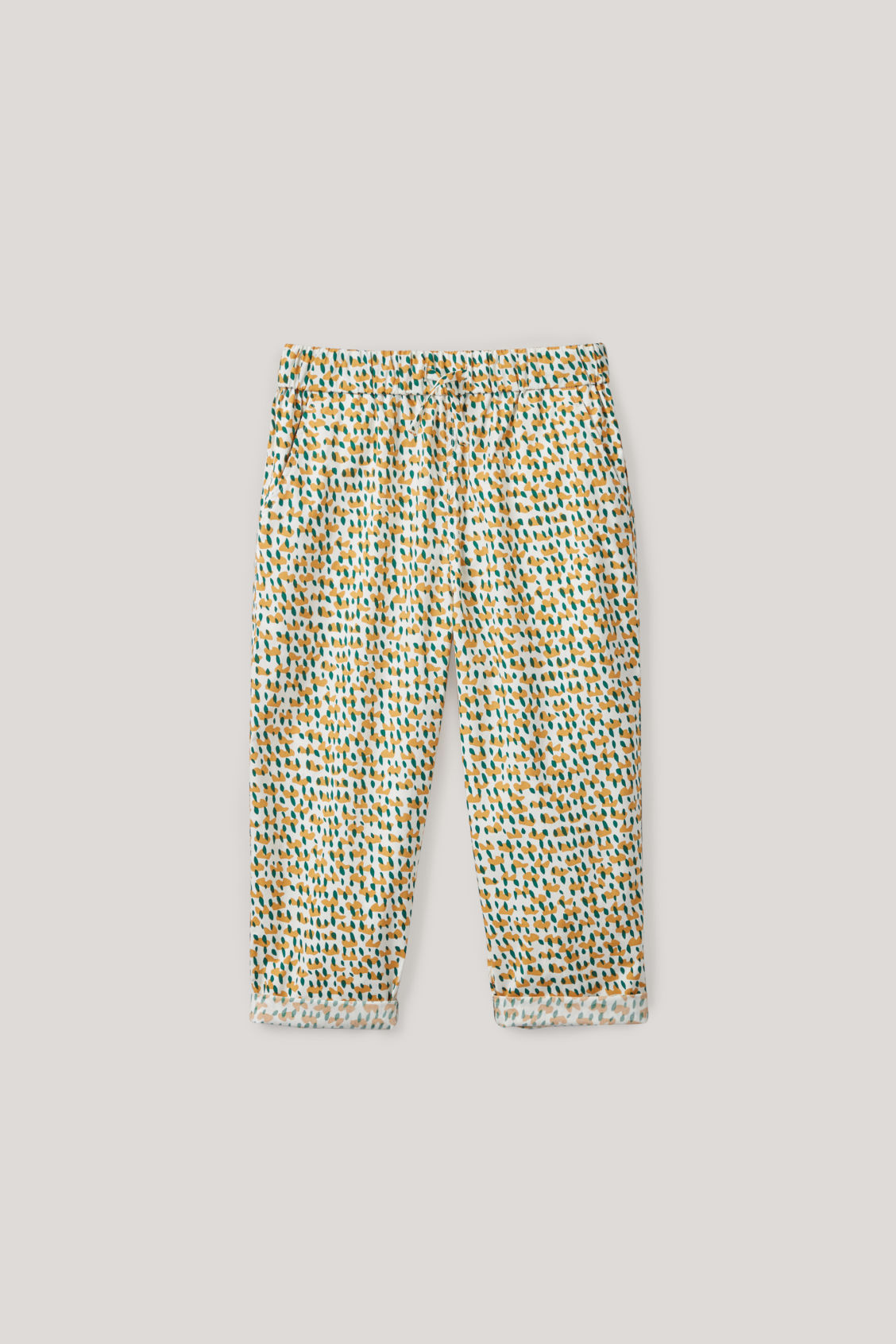 Cos Kids' Printed Elasticated Trousers In White
