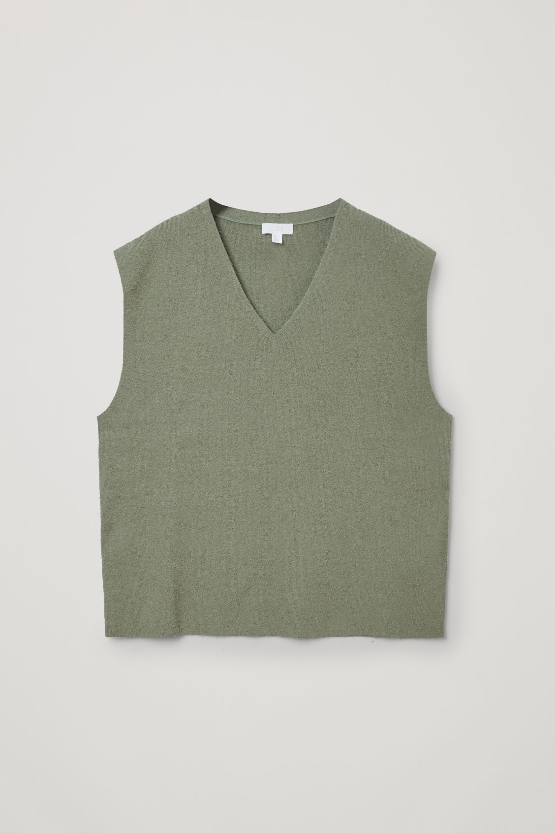 Cos Knitted Cotton-mix Vest In Green