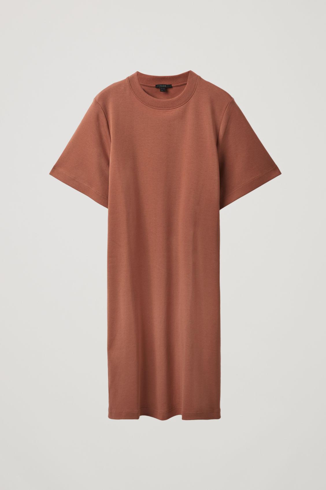 Cos T-shirt Dress In Brown