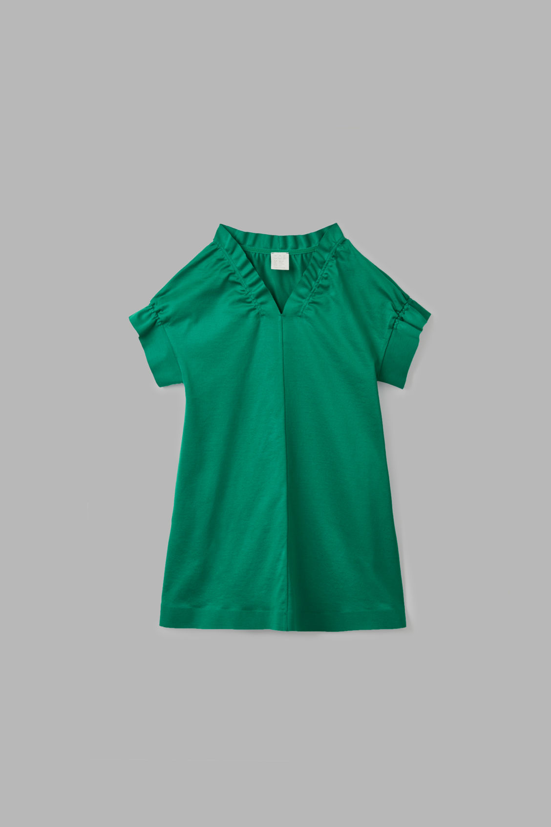 Cos Kids' Ruched-trimmed Dress In Green