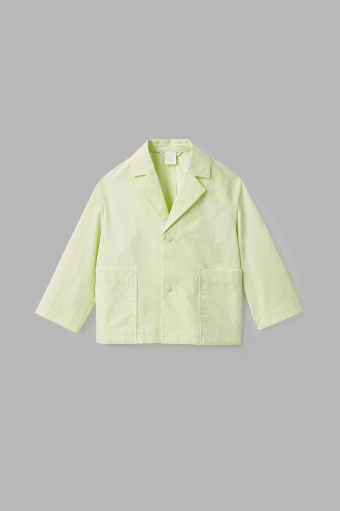 Cos Kids' Cotton Jacket With Lapels In Yellow
