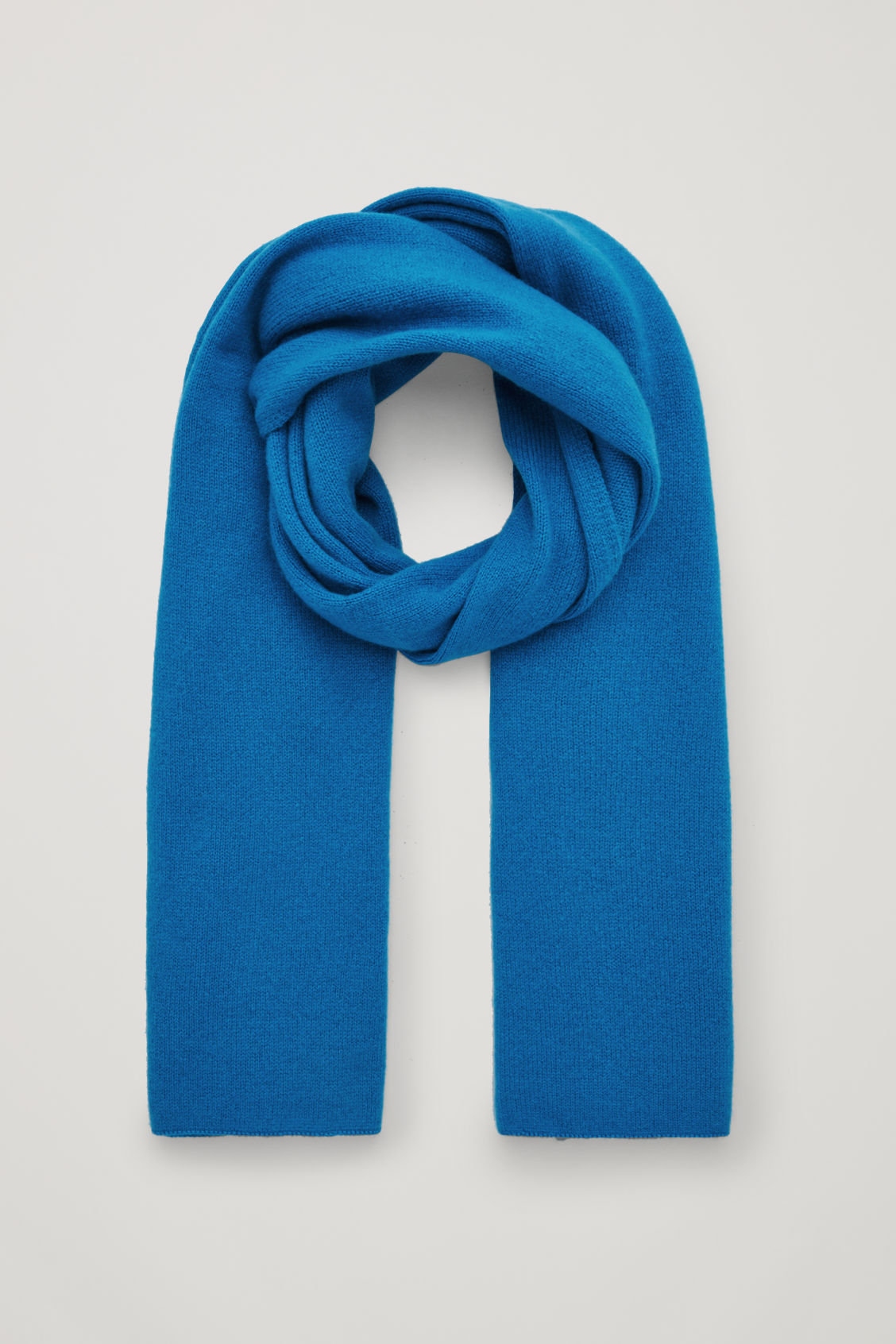 Cos Cashmere Scarf In Turquoise