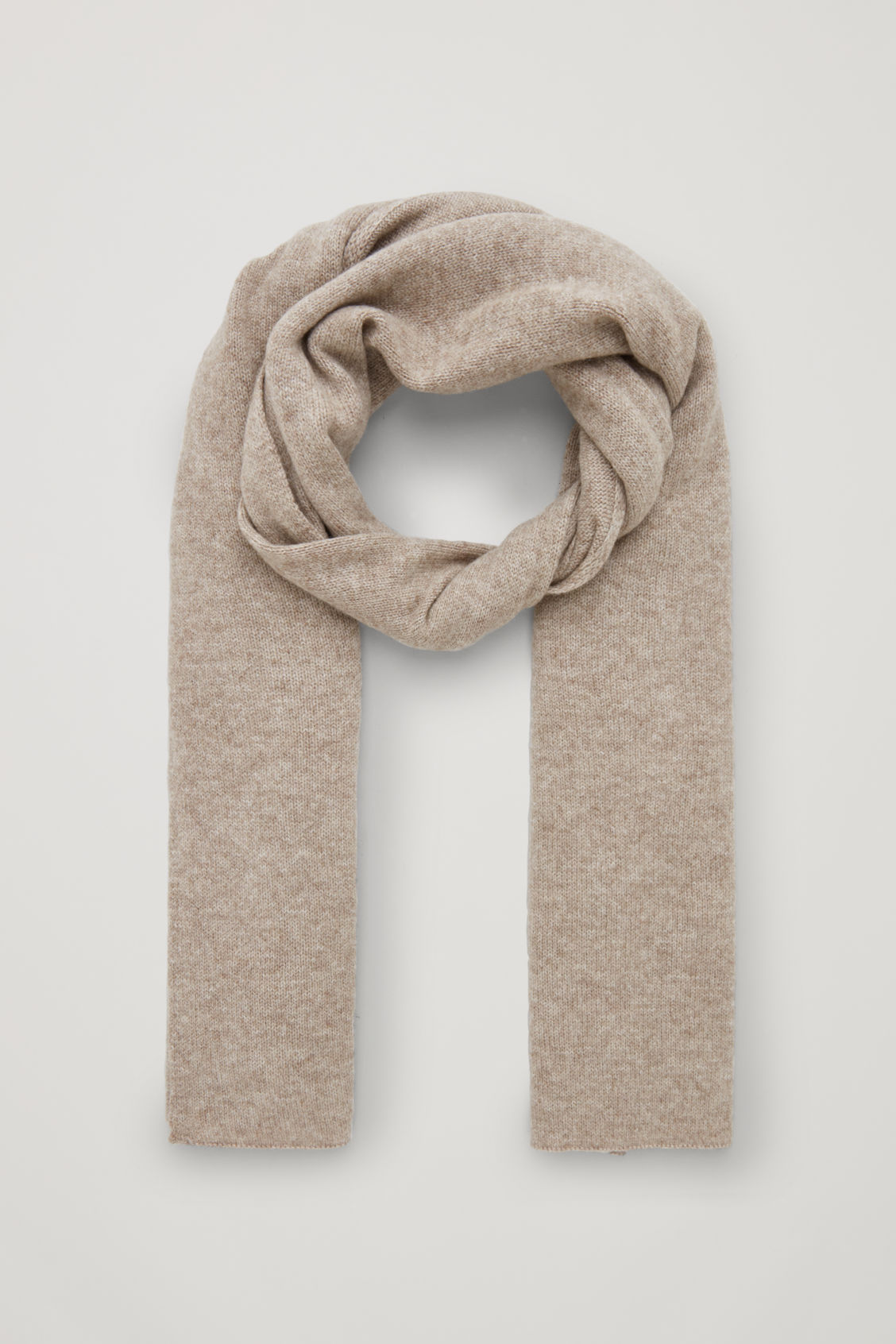 Cos Cashmere Scarf In Beige