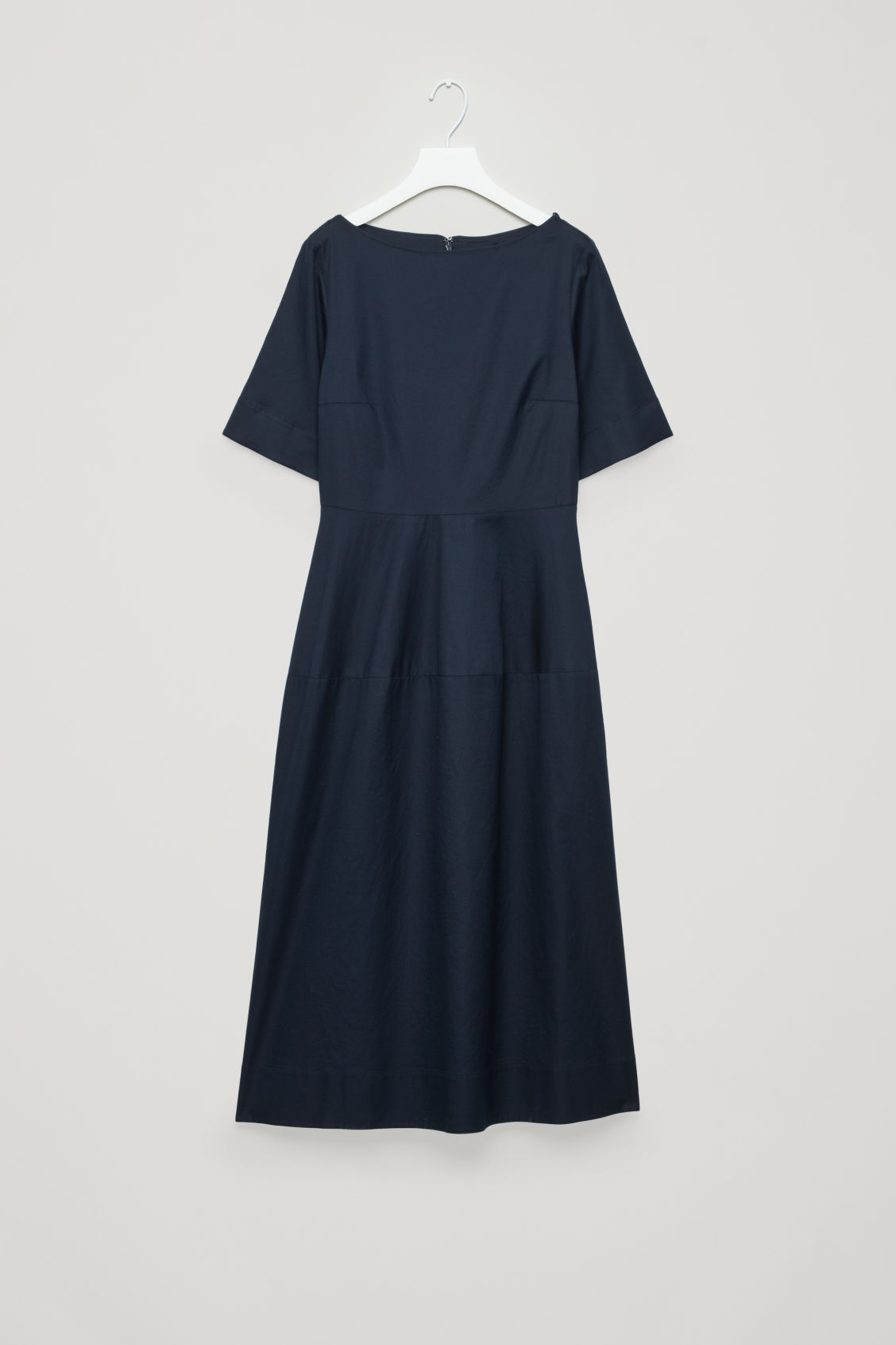 COS WAISTED SHORT-SLEEVE DRESS