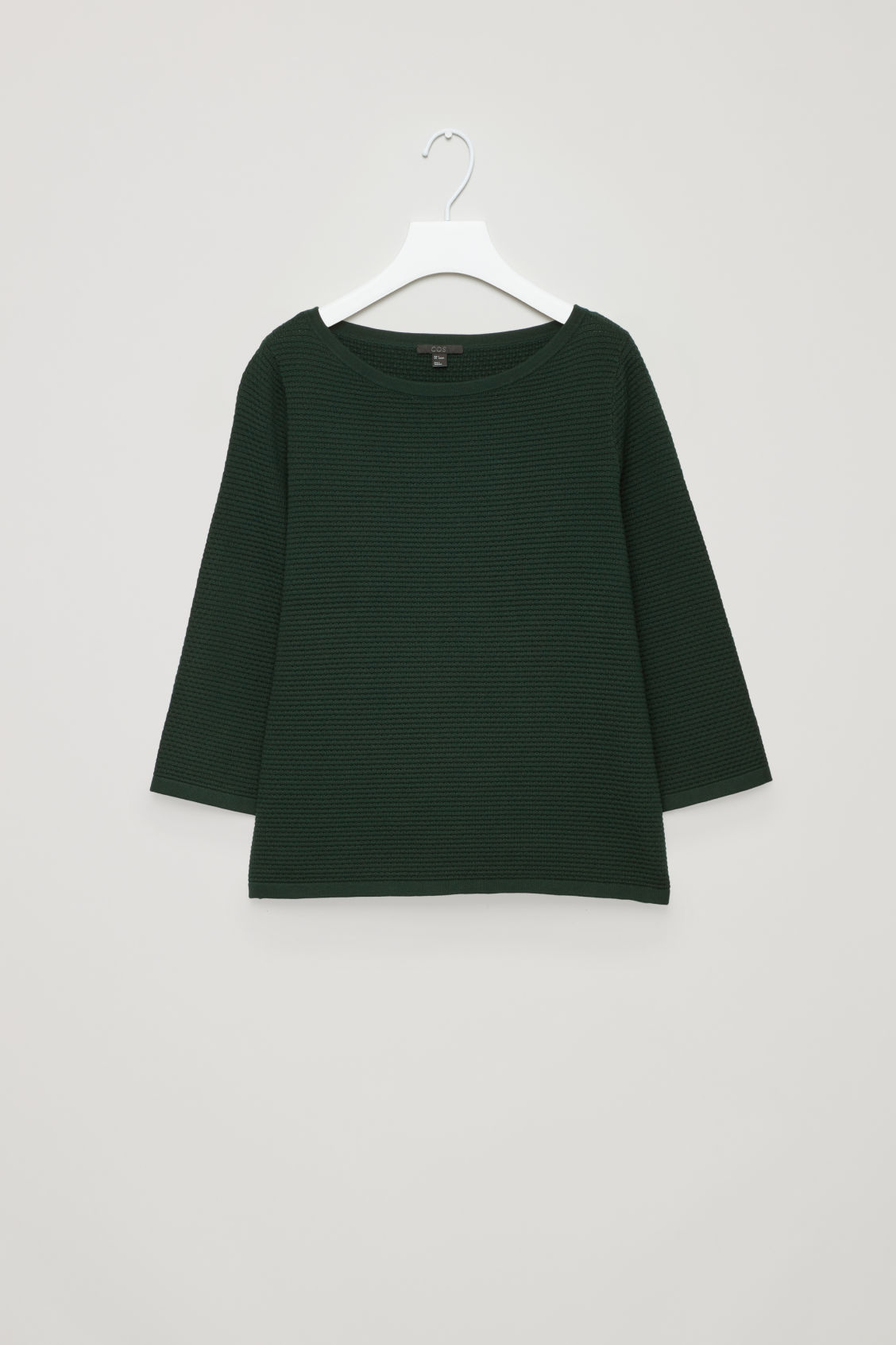 Textured Knit Jumper, Green from COS