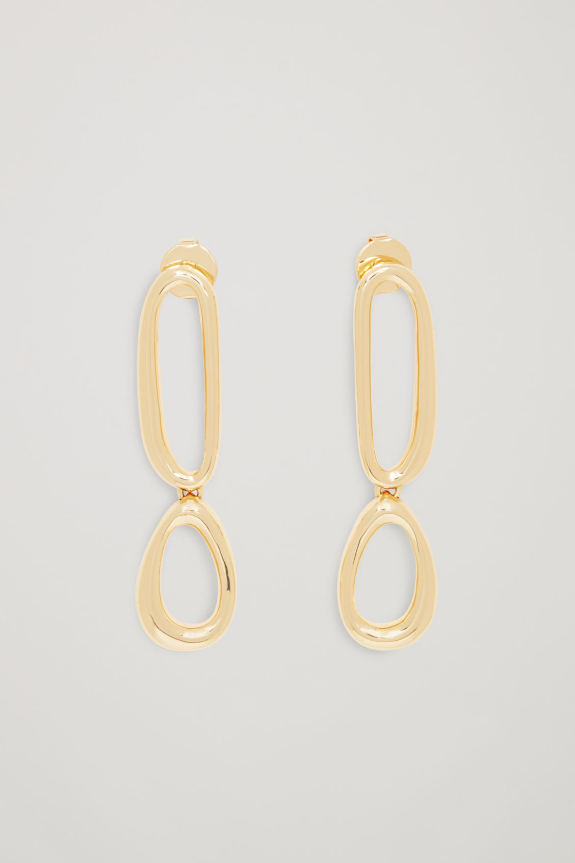 COS DROP EARRINGS WITH UNEVEN HOOPS