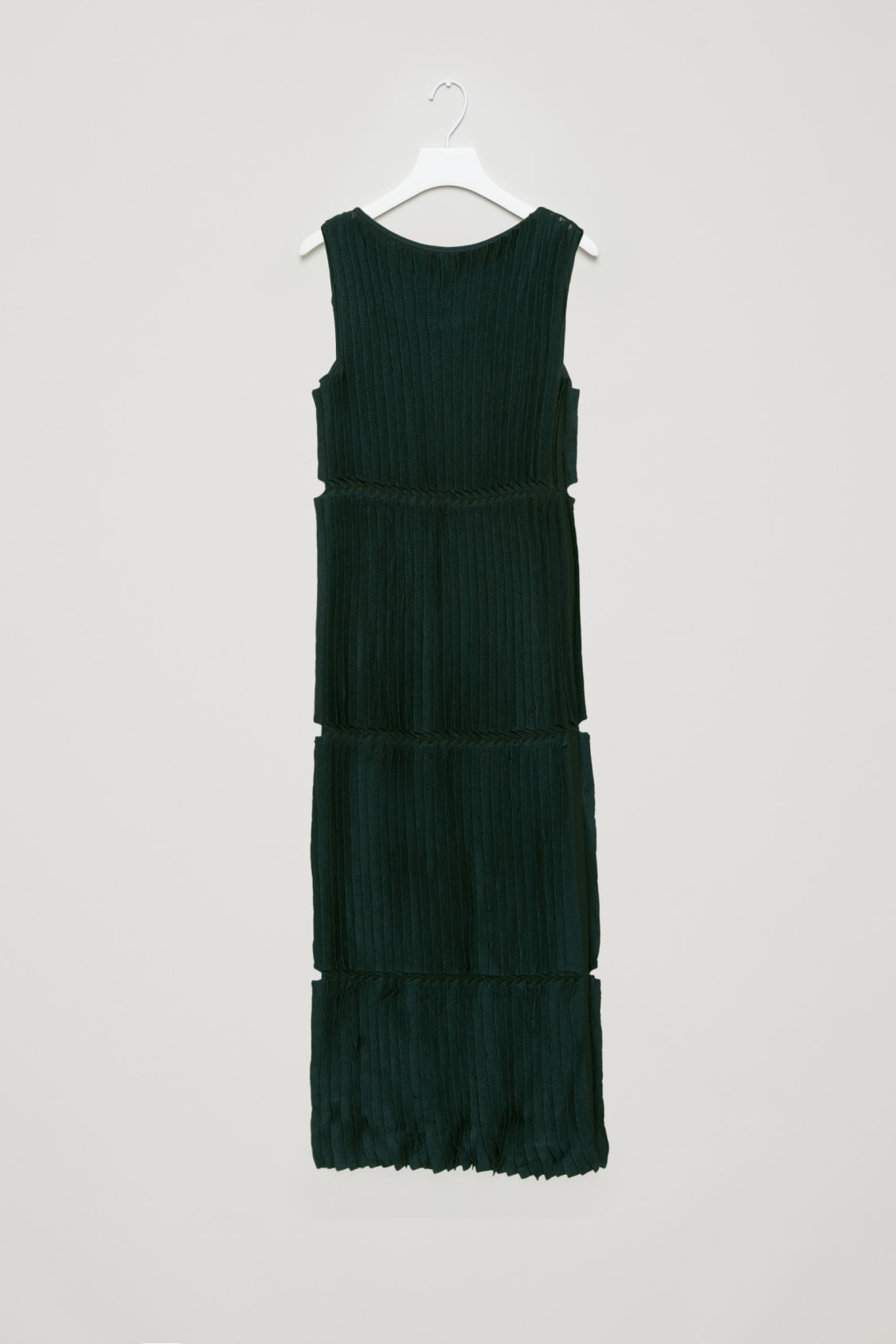 Cos Knitted Dress With Frills In Black