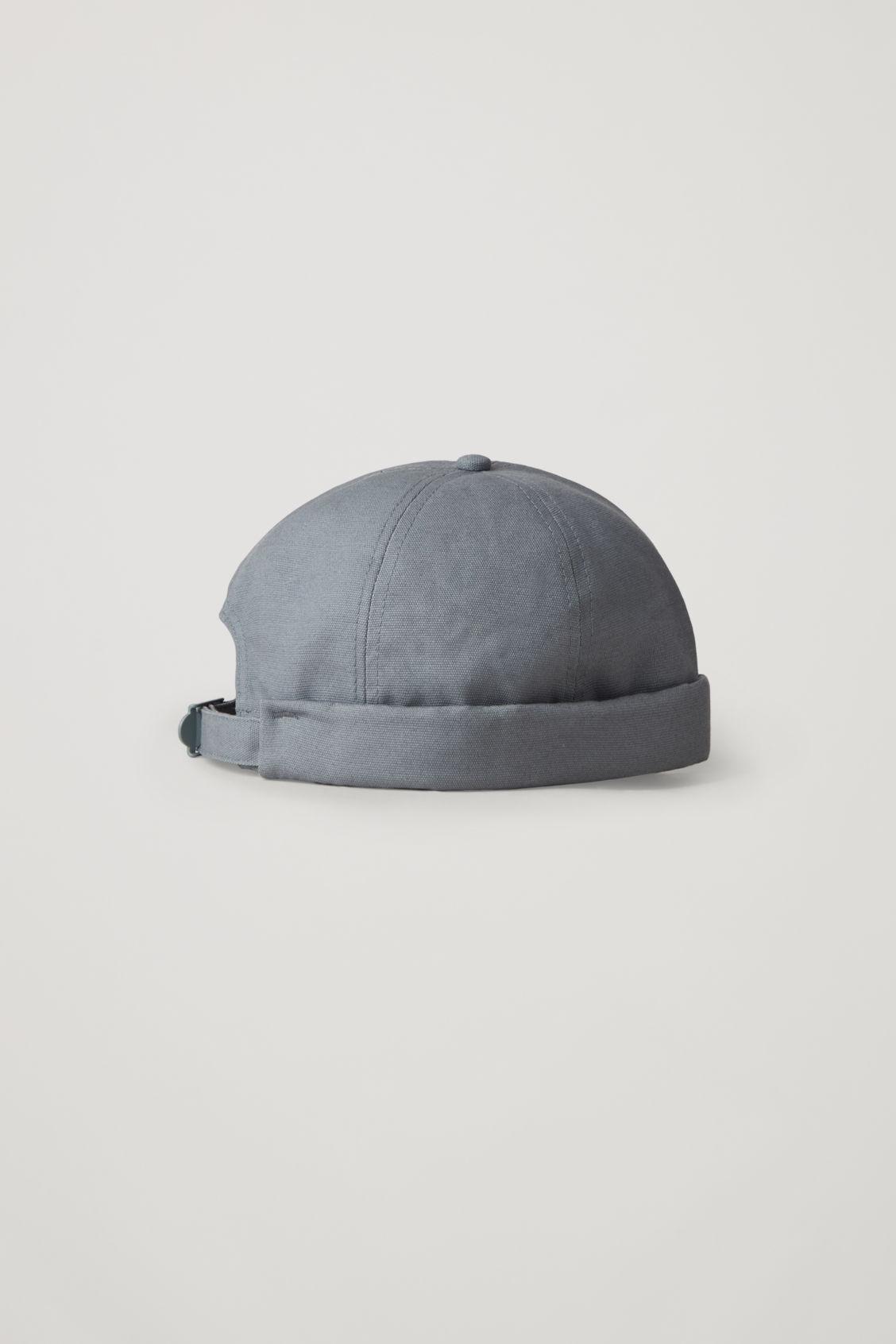 Cos Cotton Skull Cap In Blue
