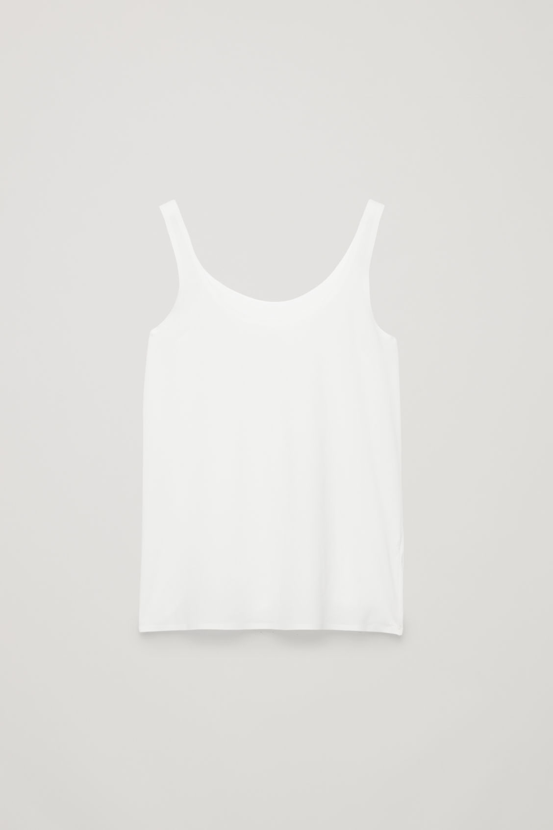 Seamless Vest Top in White from COS