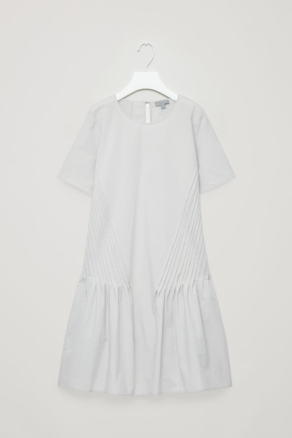COS Short-Sleeved Dress With Panels in Grey