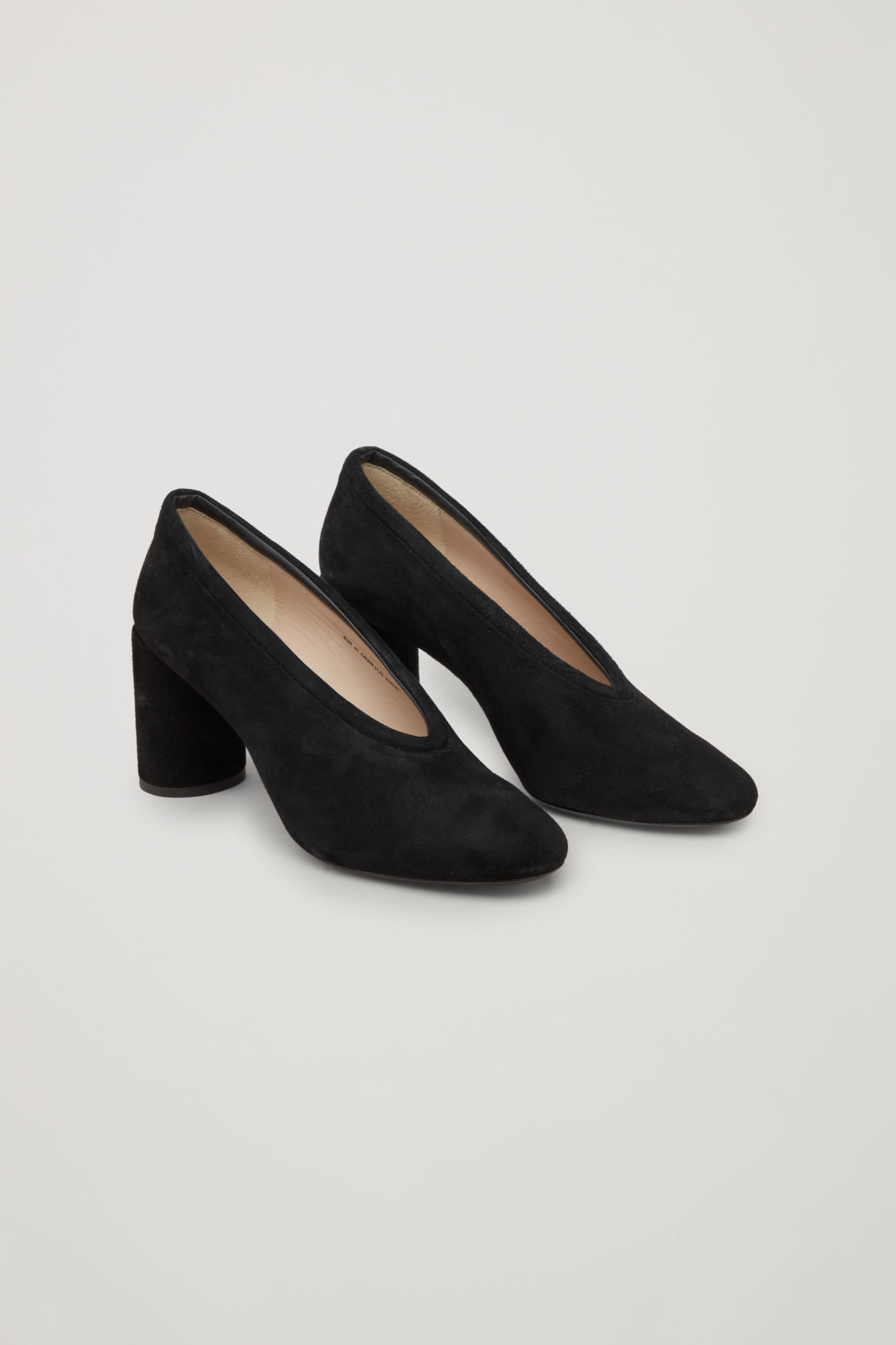 Cos SUEDE HEELS WITH PADDED TRIM