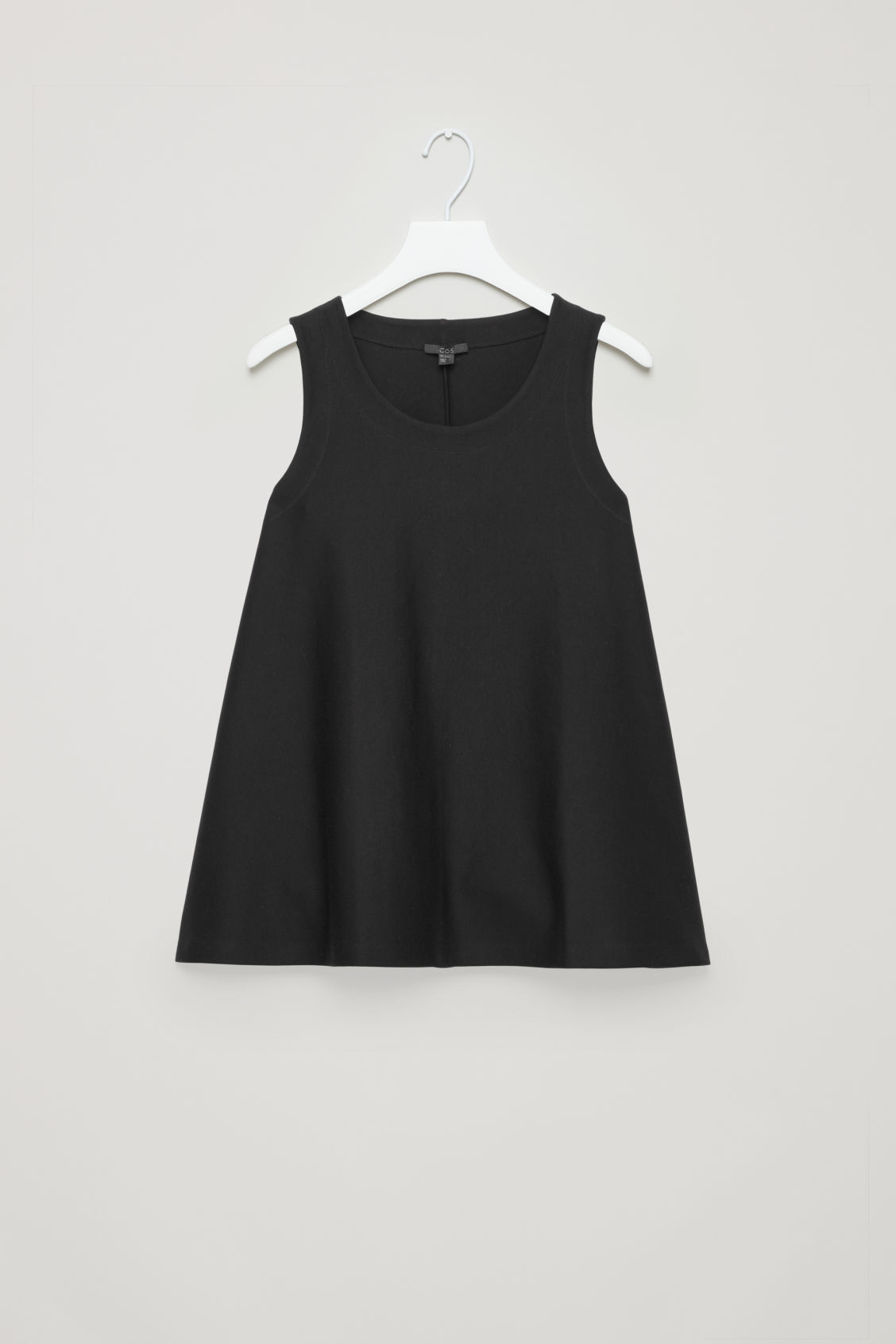 A-Line Cotton Vest Top, Black from COS