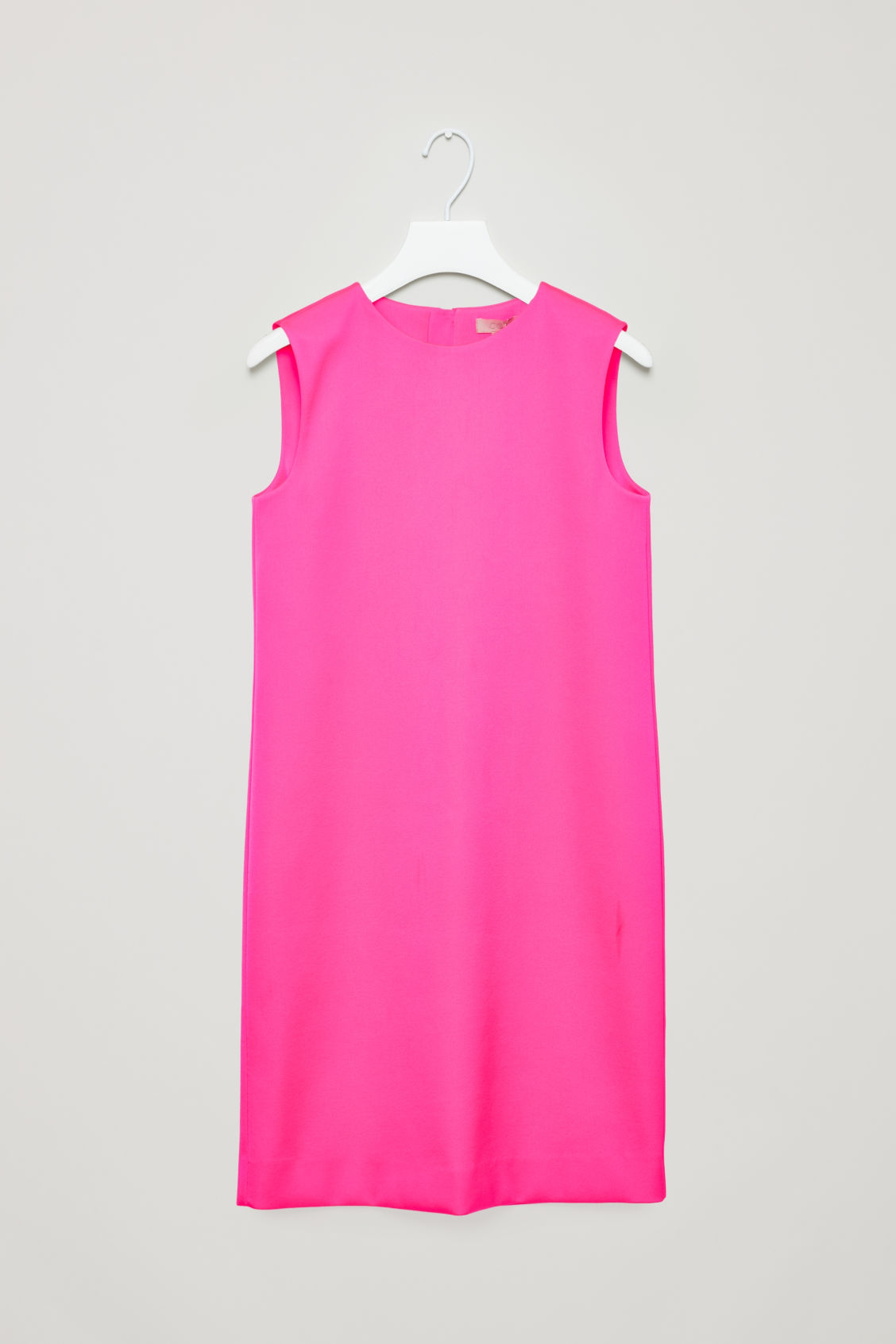 ZIP-DETAILED SLEEVELESS DRESS