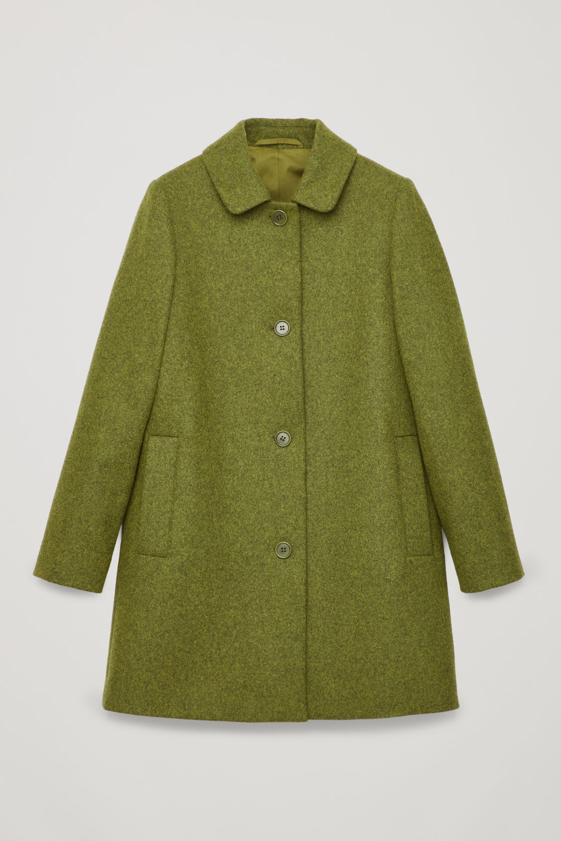 Straight Wool Coat, Green from COS