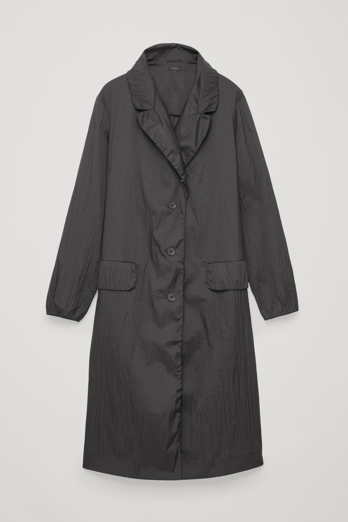 Crinkled Oversized Coat, Black from COS
