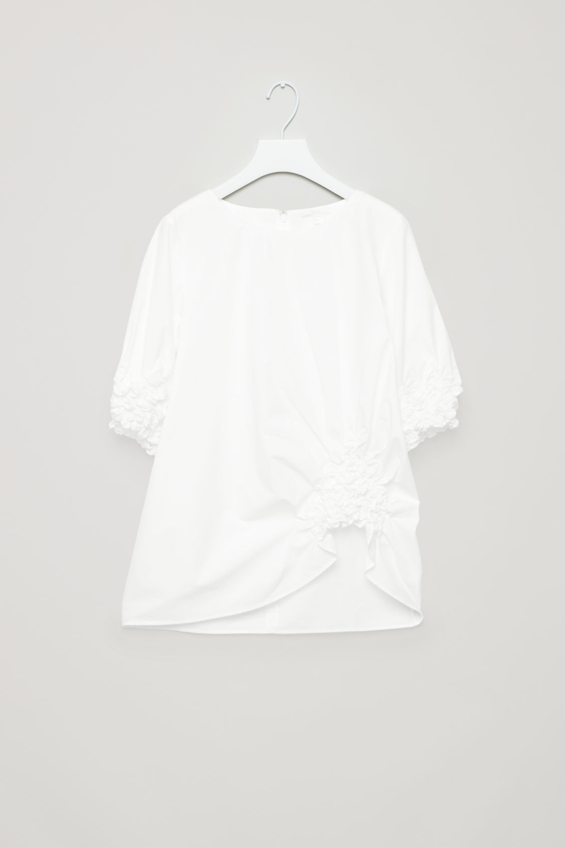 Cos POPLIN BLOUSE WITH GATHERING