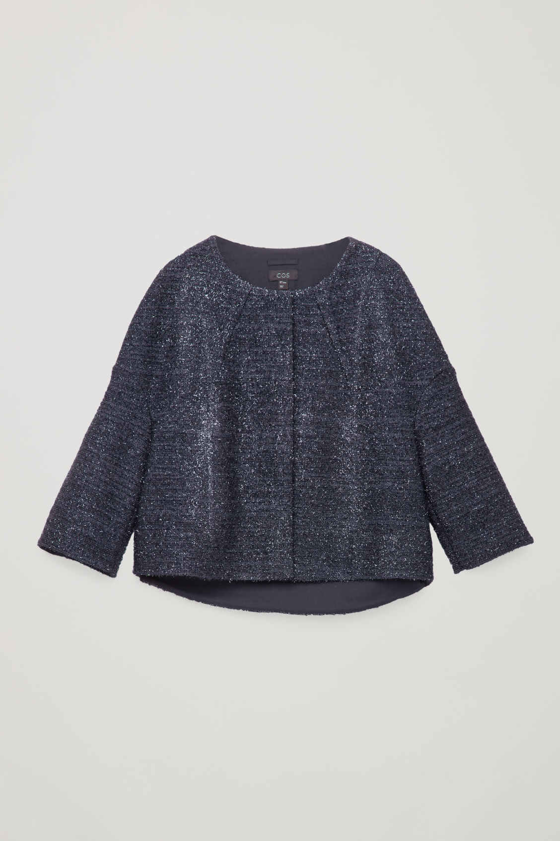 Collarless Tinsel Jacket in Blue from COS