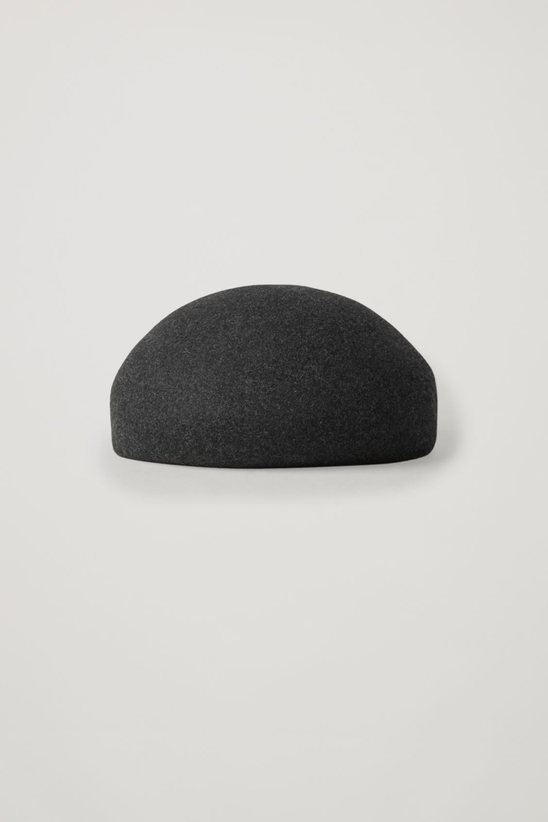 Cos Felt-wool Beret In Grey