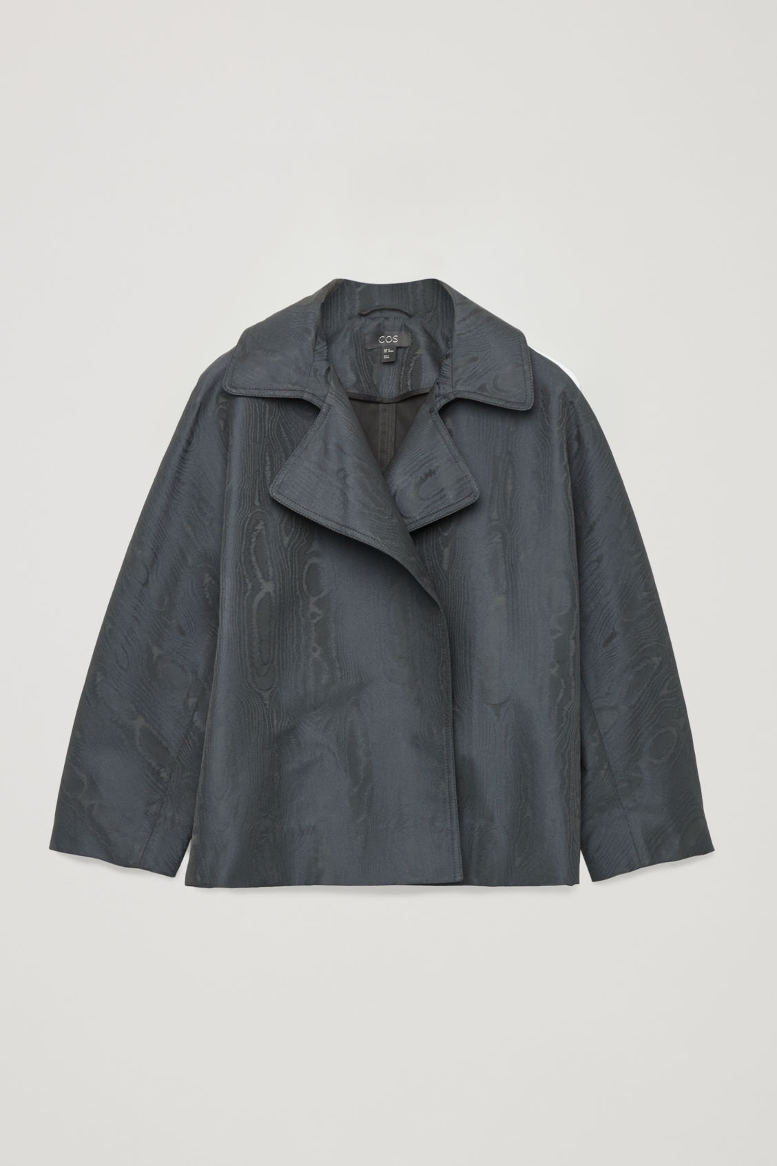Boxy Moire Jacket in Blue from COS