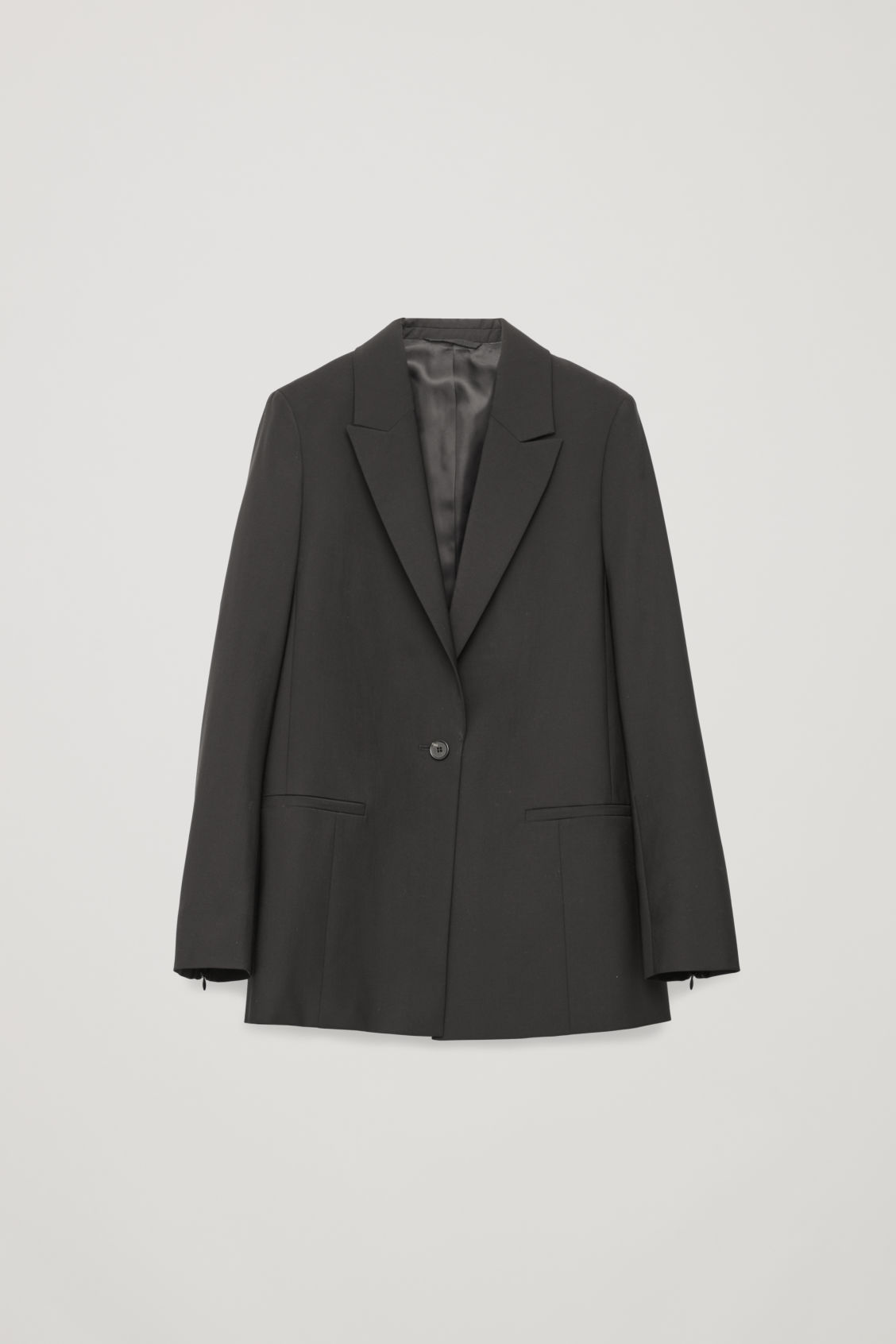 Single-Breasted Blazer With Zips in Black from COS