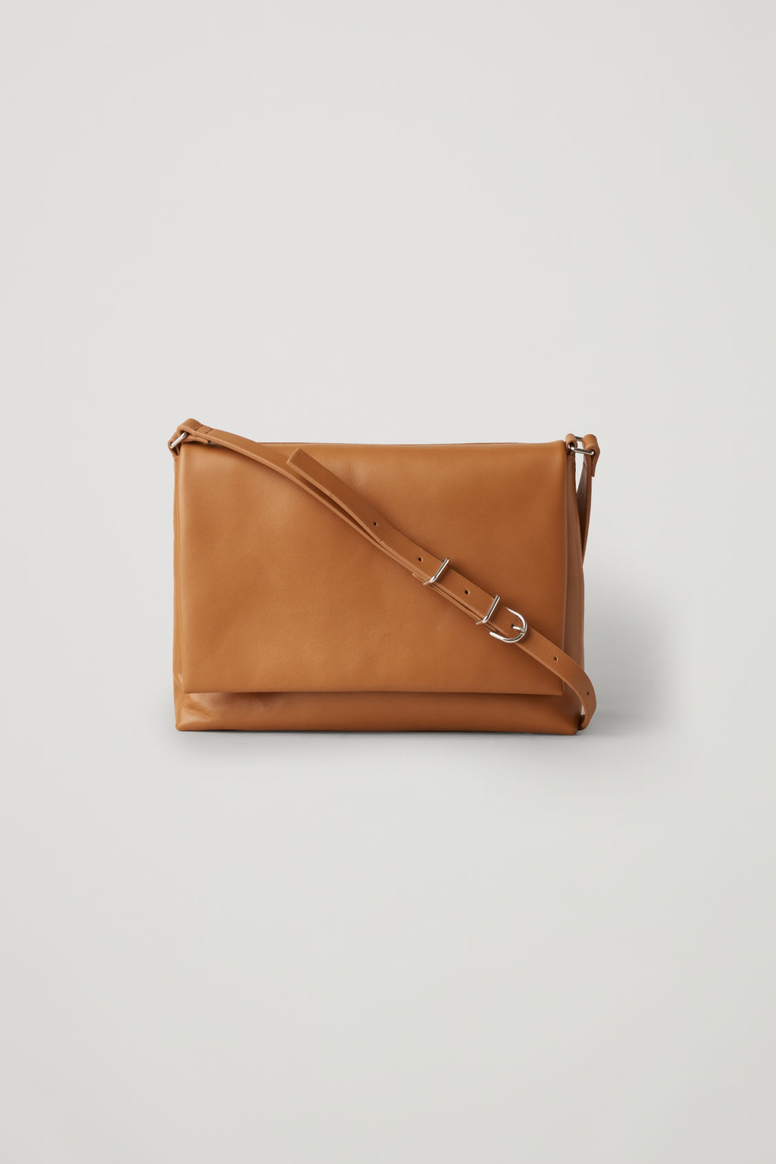 Cos Small Soft-leather Shoulder Bag In Beige