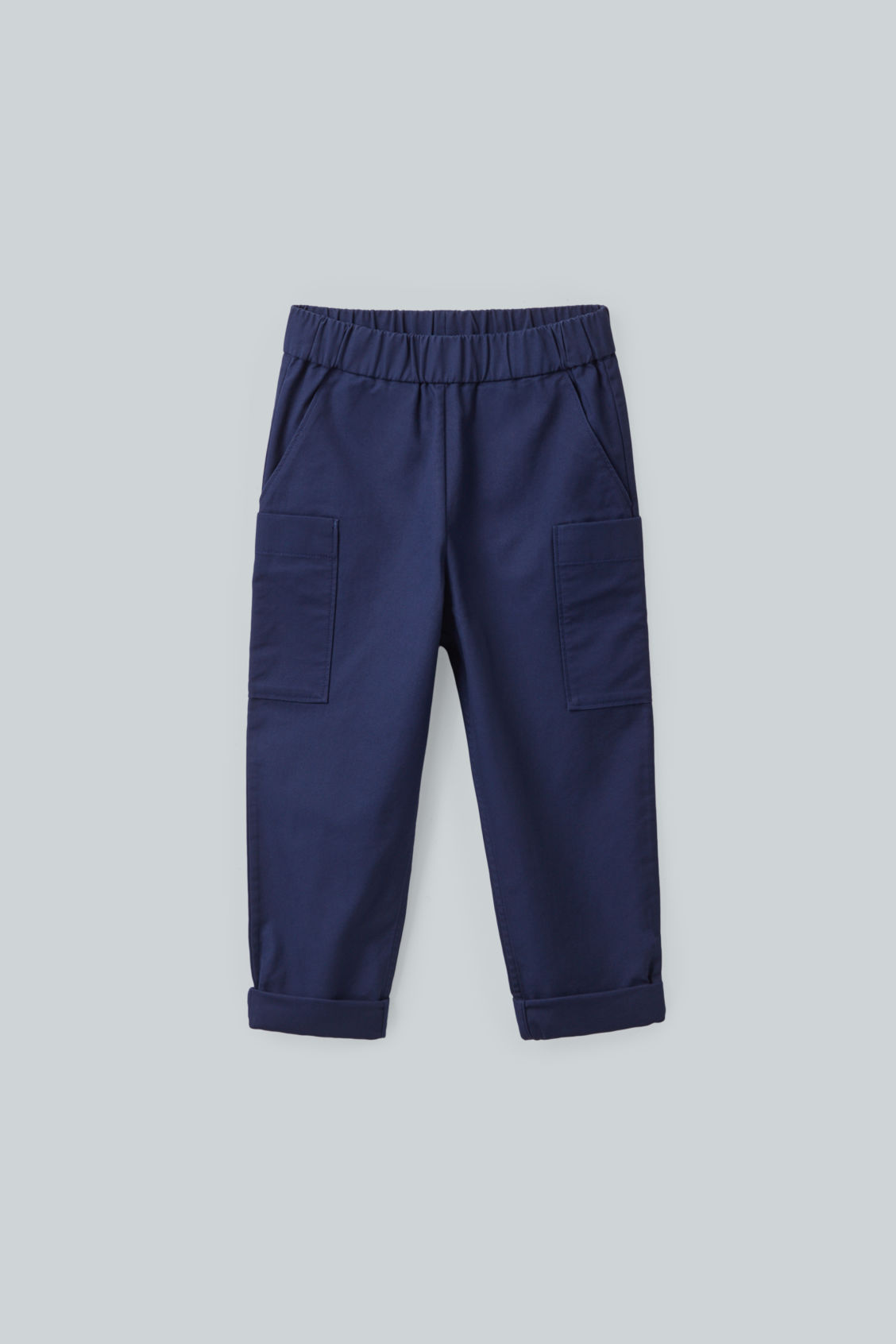 Cos Kids' Cotton Trousers With Patch Pockets In Blue