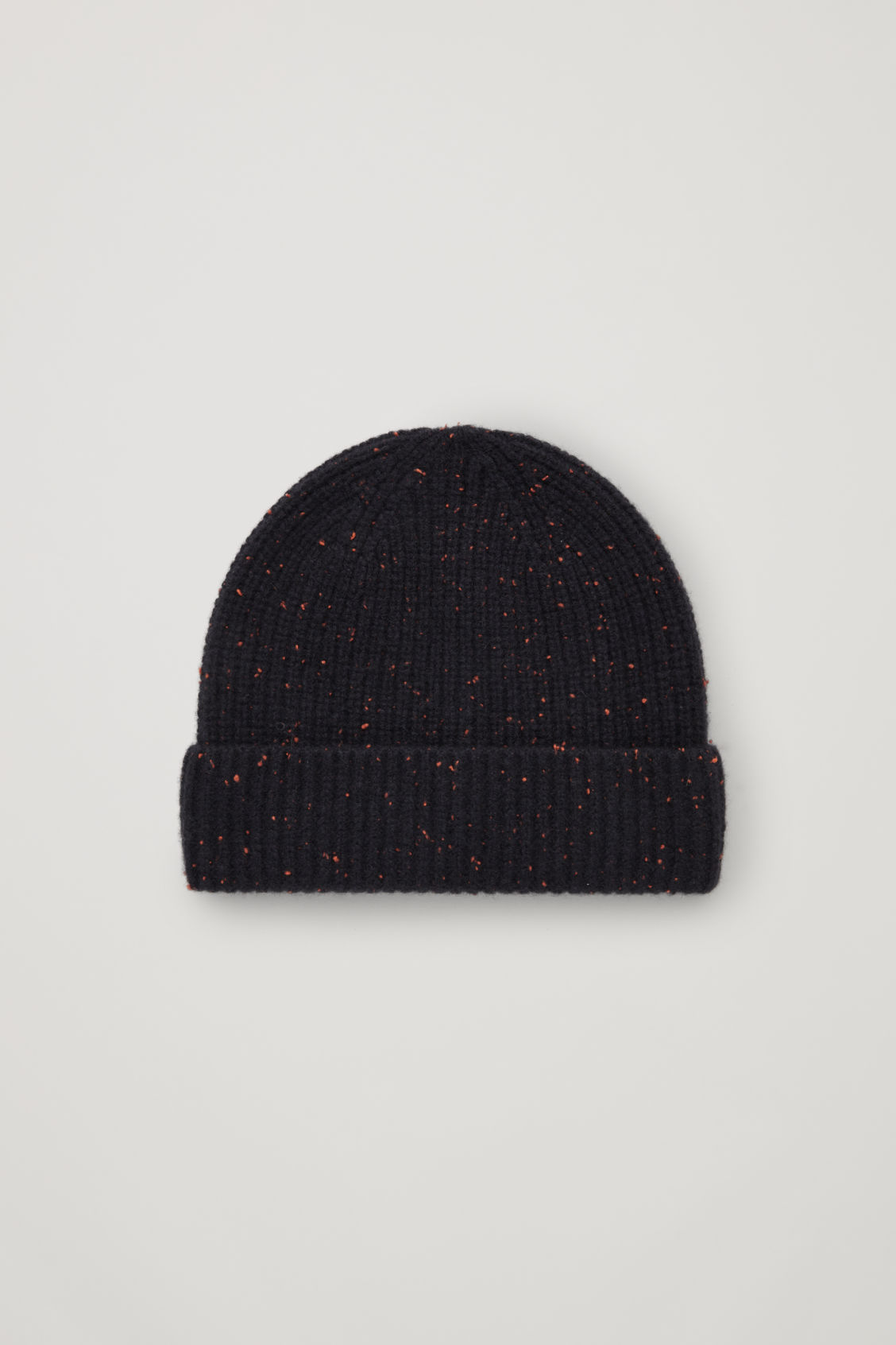 Cos Speckled Cashmere Hat In Orange