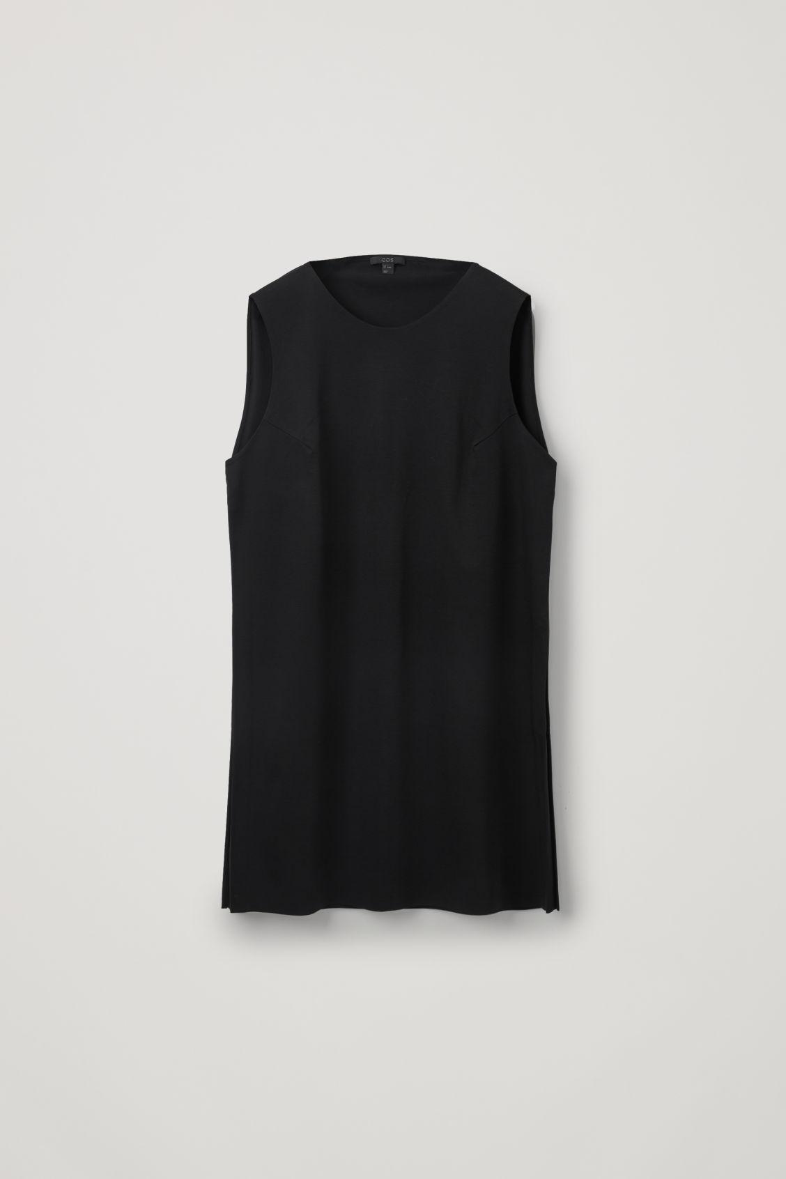Cos Sleeveless Tunic Dress In Black
