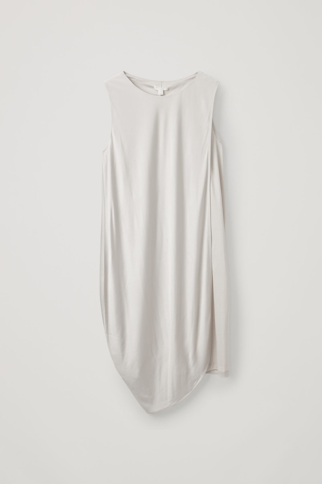 Cos Draped Double-layer Dress In Brown
