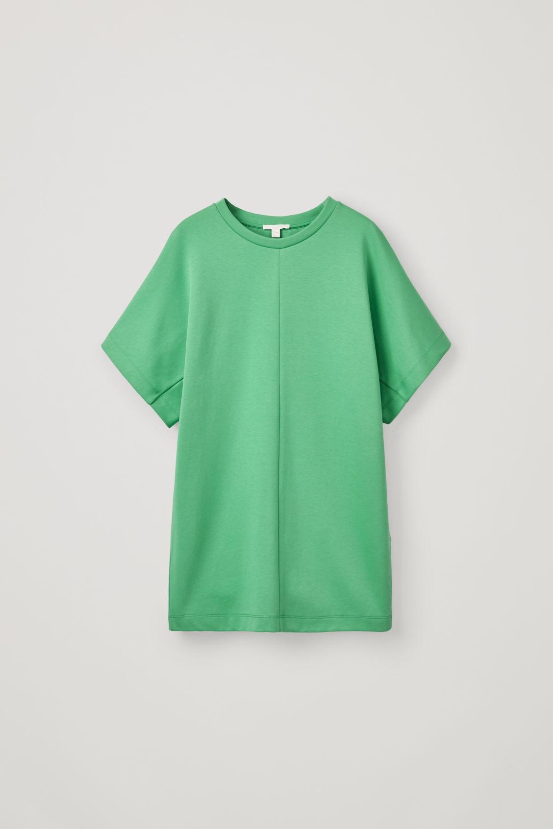 Cos Long Shaped T-shirt In Green
