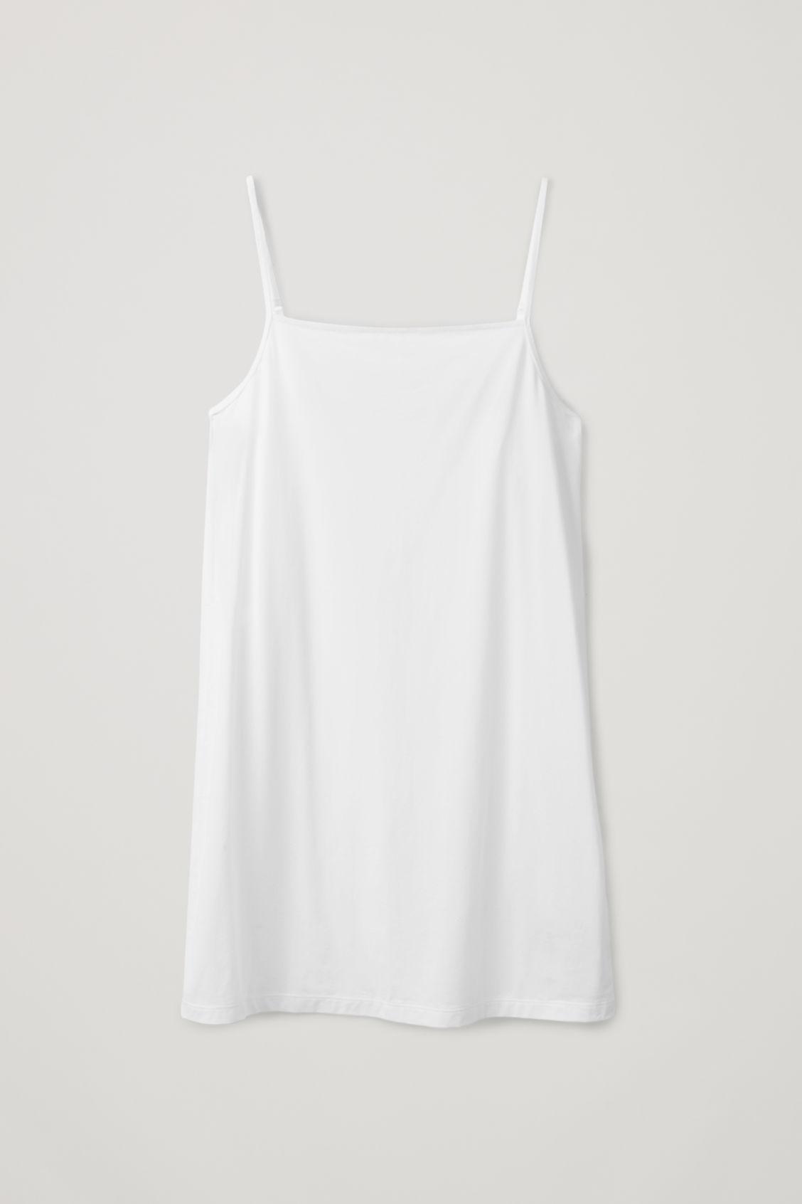Cos Light Cotton Slip Dress In White